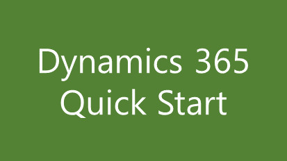 Microsoft Dynamics Quick Start